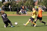 Johanna Aufkolk scheiterte knapp an der Torhüterin.