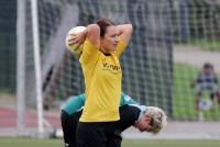 Pia Lillpop traf zur 1:0 Führung für den TuS Bruchhausen.